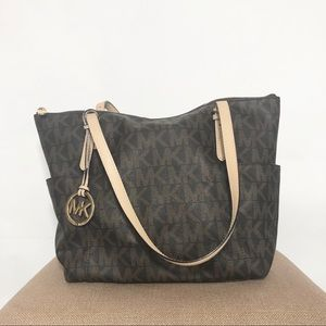 Michael Kors small logo jet set tote